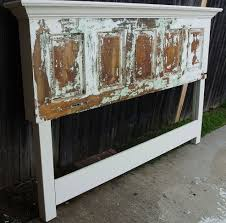old door headboard made for a king size bed
