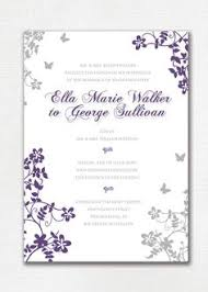 vintage purple black and silver wedding invitation silver Cadbury Purple Wedding Invitations Online wedding invitation custom classic floral butterfly purple and gray beautiful, simple printable Black and Purple Wedding Invitations