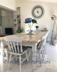 country farmhouse table and chairs. The Florence Clear\u0027 Complete Table Set - Made From Reclaimed Wood (Distressed Wooden Country Farmhouse And Chairs T