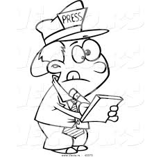 Image result for reporter cartoon