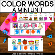 This activity will help them review the names of the colors, as well as reinforce some great sight word recognition. Let S Learn Color Words A Color Words Mini Unit The Printable Princess