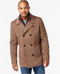 kenneth cole wool blend peacoat
