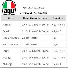 Agv Helmet Size Chart 51 Unusual Agv Glove Size Chart