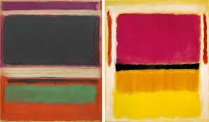 mark rothko no 3 no 13 magenta black green on orange 1949 left violet black orange yellow on white and red 1949 right images via wikiart