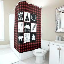 buffalo plaid shower curtain red black buffalo plaid monogram shower curtain buffalo check shower curtain bathrooms