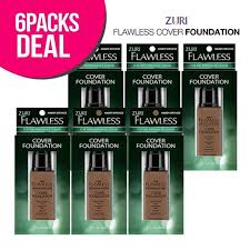 Zuri Flawless Cover Foundation Amber Bronze Pack Of 6