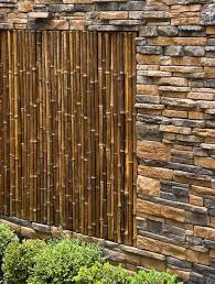 ... design Gorgeous idea for building a bamboo and stone wall ...