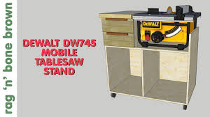 dewalt table saw stand. mobile tablesaw stand for dewalt dw745 (part 1 of 2) - workshop re-model episode 2 youtube dewalt table saw