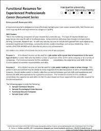 Popular Resume Formats