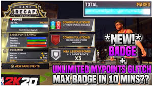 Nba 2k20 max badges