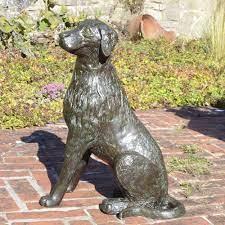 metal dog garden statues uk dog statues