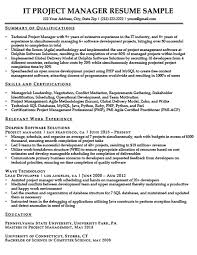 Project Manager Resume Summary Unique How To Write A Summary Of Qualifications Resume Companion