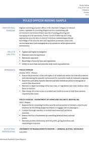 Police Officer Resume Examples Cosy Police Officer Resumes Samples On Resume Sample Law Security 75