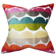 xois geometric throw pillow  reviews  allmodern