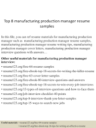 top8manufacturingproductionmanagerresumesamples 150514020345 lva1 app6892 thumbnail 4 jpg cb 1431569065