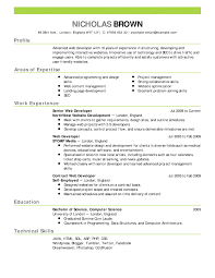 Free Job Resume Template Sample Resume Cover Letter Format