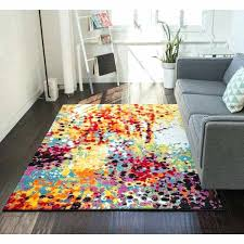 bright area rugs contemporary multi coloured funky modern thick soft