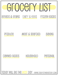 Free Printable Grocery List Organizer Todays The Best Day
