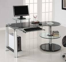 contemporary glass computer desk