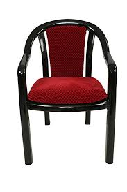 supreme ornate set of 4 chairs black and red