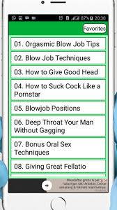 Tips for a blow job