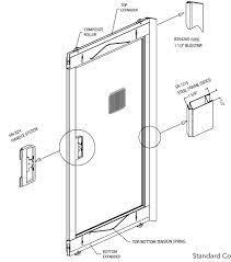 adjustable sliding screen door white 36