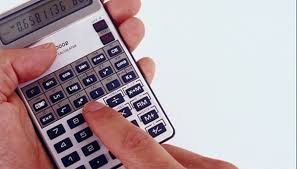 make calculations easier for yourself by using a calculator