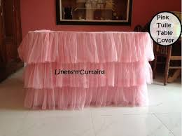 pink tulle tiered table cloth 6 feet table 3 layered tiered tutu r
