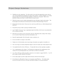 What Is Project Design Document How To Write Your Own Project Design Guidelines Project