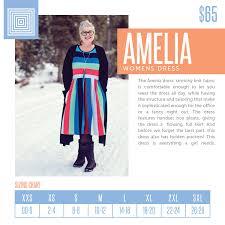 Lularoe Amelia Sizing Chart 2018 Lularoe Amelia Dress