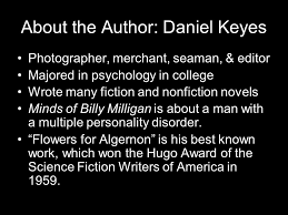 "flowers for algernon"" by daniel keyes about the author daniel  2 about"