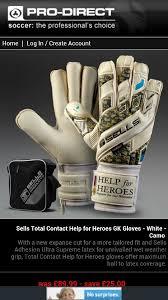 Sells Goalkeeper Gloves Size Chart Sells Help For Heroes Gk Gloves Gk Gloves Goalie Gloves
