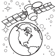 Small Picture Space coloring pages earth satellite ColoringStar