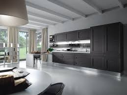 modern kitchen black and white. Grey And White Kitchen Design With Lamps Cleany Floor Modern Black .