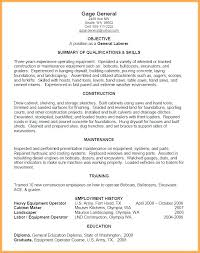 General Laborer Sample Resume Skills Template Construction Labor ...