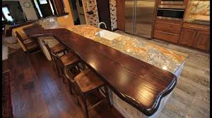 Rustic Kitchen Remodel Featuring A Redwood Live Edge Bar Top Youtube