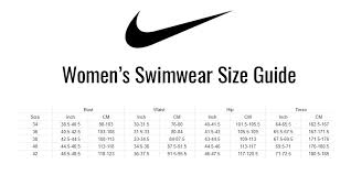 Nike Size Chart Women S Swimwear