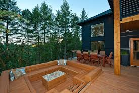 best fire pit for wood deck best of decks with sunken fire pit