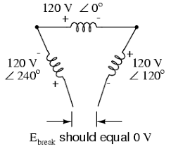 three phase y and delta configurations polyphase ac circuits open delta voltage calculation at Open Delta Transformer Connection Diagram