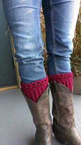 crocheted boot cuffs are the hottest trend right now i created this cuff with a nice lace design boot cuffs are the perfect compliment to any