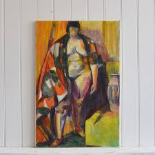 1962, Large Oil Painting, 'Standing Nude,' Madge Sybil Lloyd | Vinterior