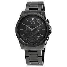 a x armani exchange watches jomashop armani exchange black dial black pvd stainless steel men s watch