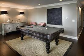 rug under pool table inspiration for a transitional dark wood floor game room remodel in with