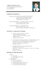 Sample Of Curriculum Vitae Cool Samples Of Resume For Job Application Example Of Resume To Apply Job