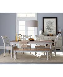 Montauk 6 Piece Dining Set Dining Table 4 Chairs and Bench