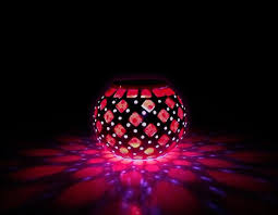 solar powered mosaic glass ball led garden lights 0 6w color changing solar table lamps