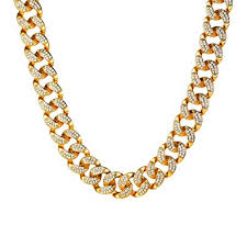 u7 personalized shiny iced out chain rapper s statement necklace 18k yellow gold miami cuaban chain 14mm