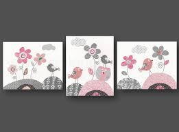 stunning nursery wall art print for baby kids decor with flower bird decorative painting and dark grey wall idea on baby room wall art painting with stunning nursery wall art print for baby kids decor with flower bird