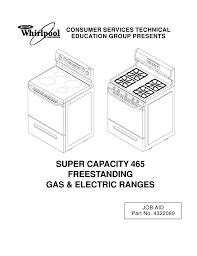 Whirlpool Super Capacity 465 Oven Pilot Light Whirlpool Sf385peg Service Manual Manualzz Com