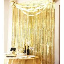 2017 metallic fringe curtain party foil tinsel room decor 3 x 8 door whole in curtains from home garden on aliexpress com alibaba group